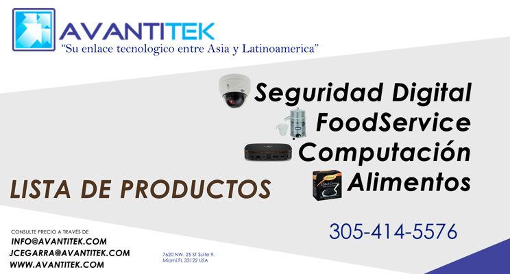 LISTA DE PRODUCTOS AVANTITEK(TEST)