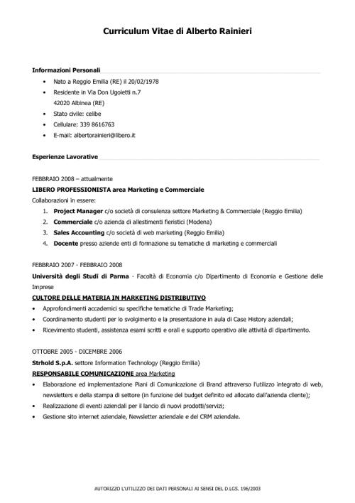 CV Alberto Rainieri 2012