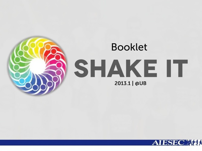 Booklet Shake It 2013.1