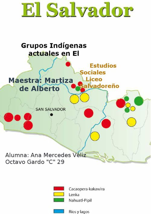Grupos Indígenas actuales en El Salvador