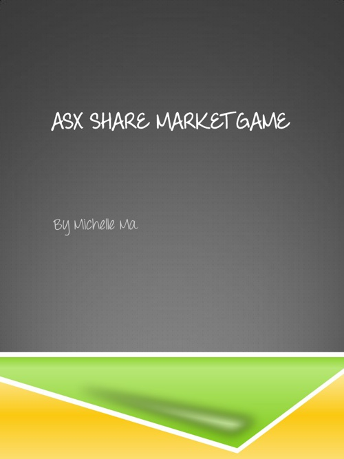 ASX share market game
