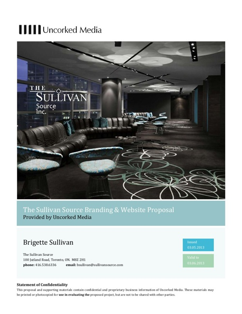The Sullivan Source Branding & Website Proposal