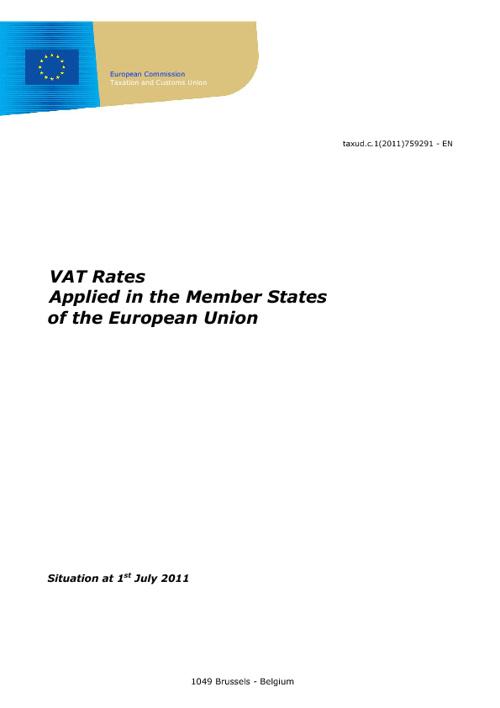 Btw tarieven EU lidstaten