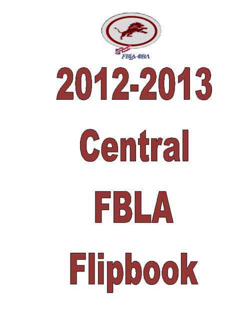 STANDARD 6:  Central High School FBLA
