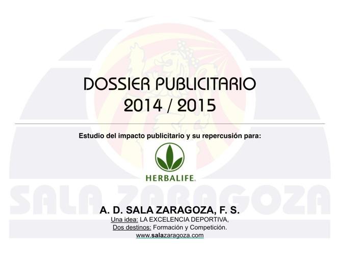 DOSSIER PUBLICITARIO 2014 HERBALIFE