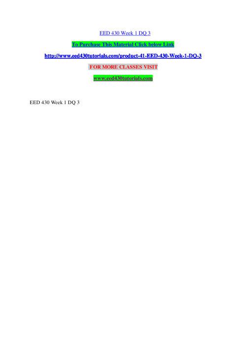 EED 430 TUTORIALS Learn by Doing / eed430tutorials.com