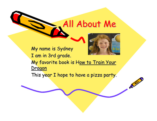 All About Me - Ms. Ratliff's Class