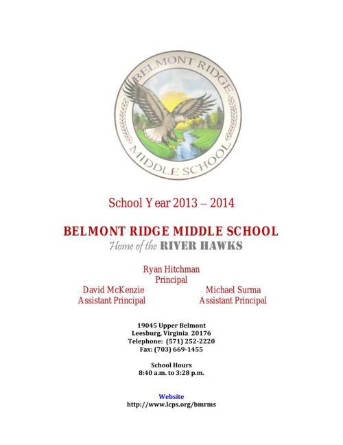 Student Handbook - 2013-2014