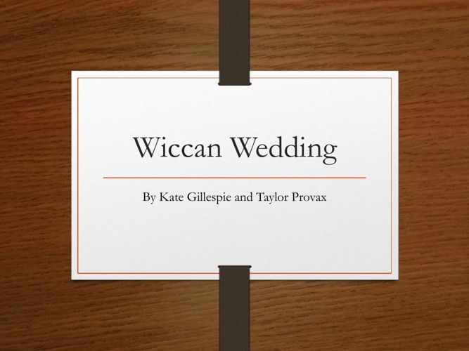 Wiccan Wedding