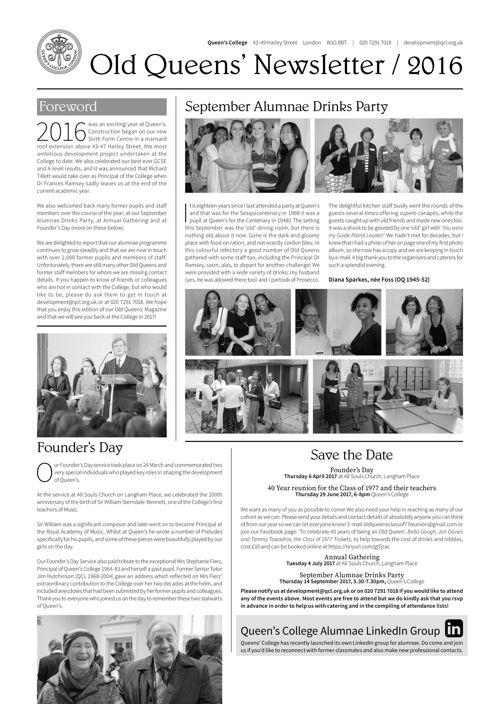Old Queens Newsletter 2016