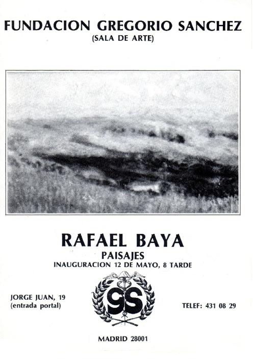 Exposición Rafael Baya 1990 Gregorio Sánchez