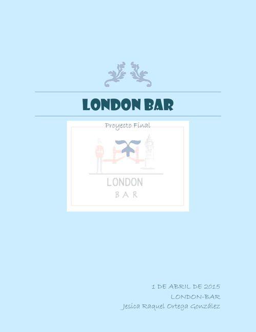 LONDON BAR!