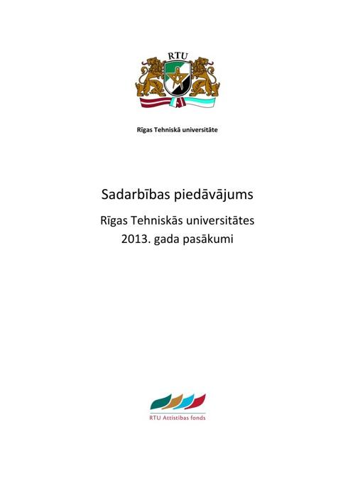 2013. gada pasākumi