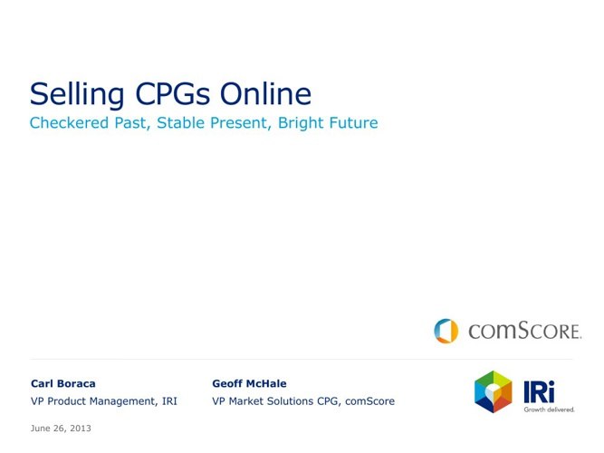 Selling CPGs Online