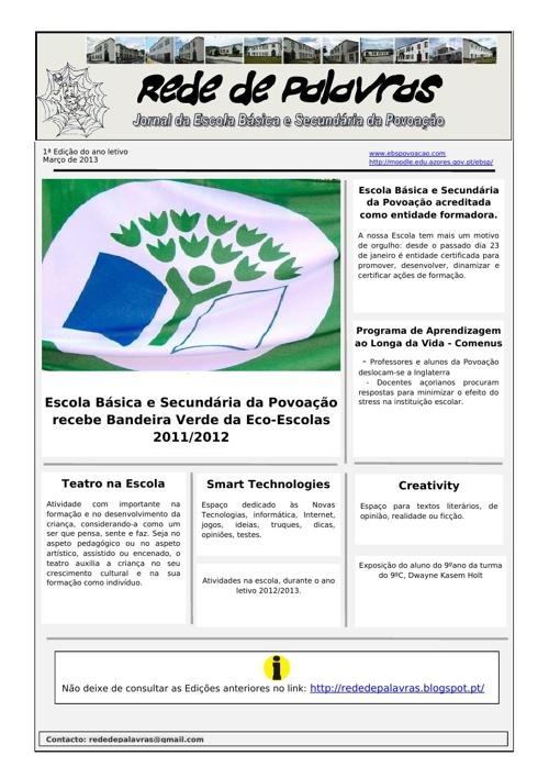 1ªEdição -  Jornal Rede de Palavras