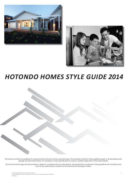 Hotondo Homes Style Guide 2014