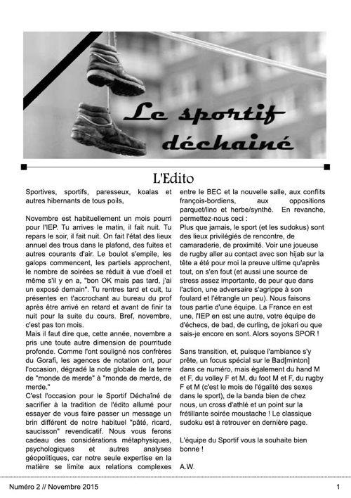 Le Sportif Déchaîné  2015