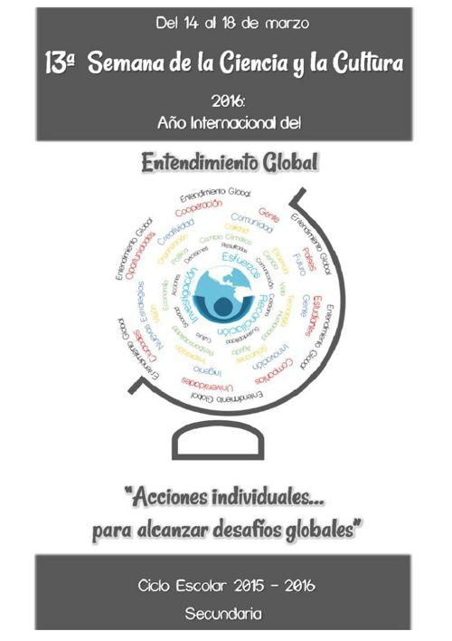 PROGRAMA DE LA 13a. Semana de la Ciencia y la Cultura CER