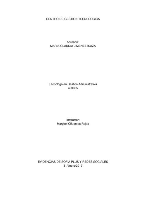 430305 Induccion Tecnologia TIC por Maria Claudia Jimenez Isaza