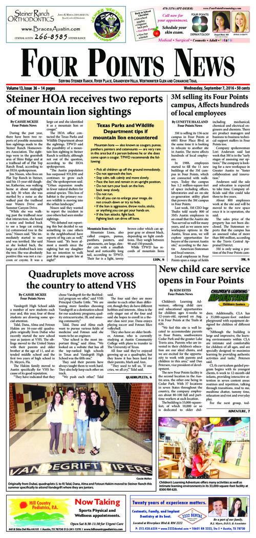 Four Points News September 7 2016