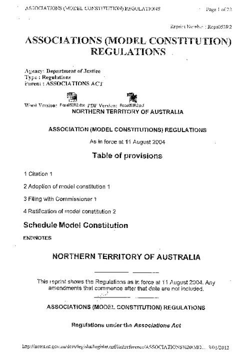 DMF Constitution