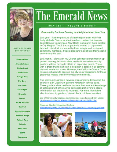 The Emerald News: Volume 3, Issue 7 (July 2011)