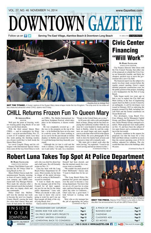 Downtown Gazette     November 14, 2014