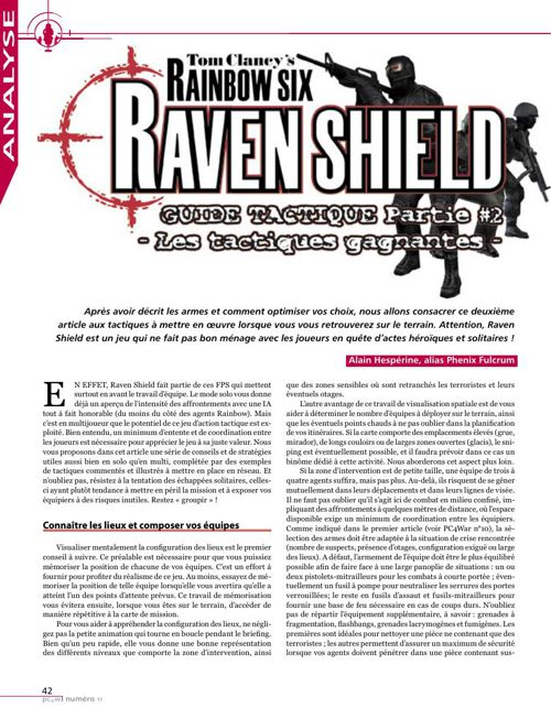 Tom Clancy's Ravenshield - Guide : tactiques gagnantes