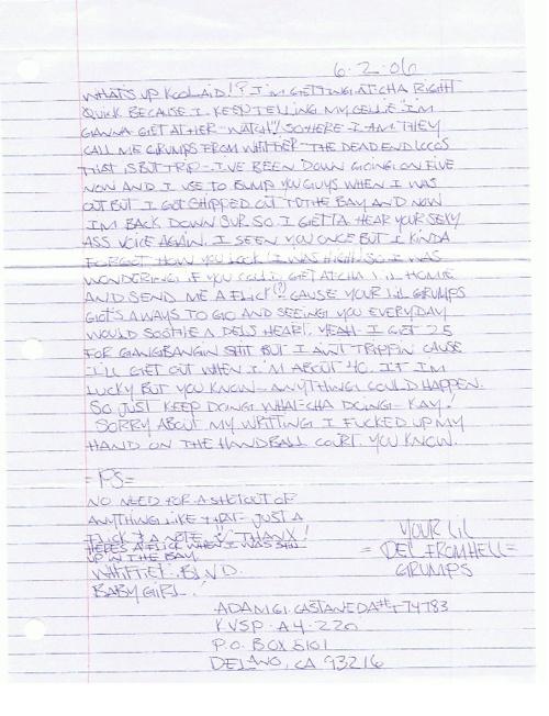 """Pocos Pero Locos """"Dedications From The Pen"""" Letters 2006: Vol. 1"""