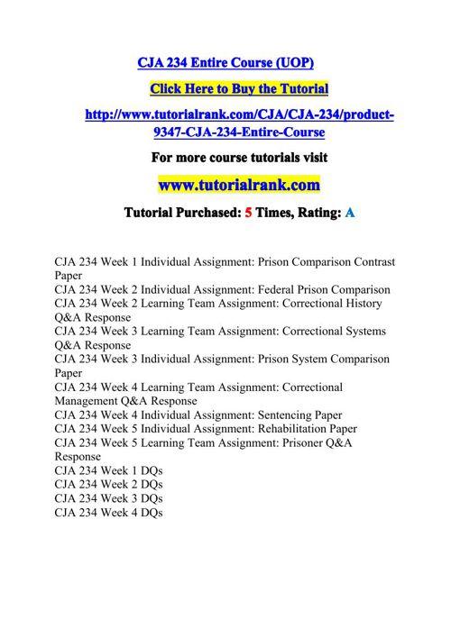 CJA 234 Potential Instructors / tutorialrank.com