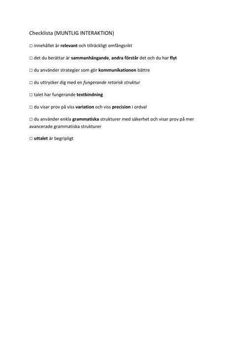Checklista_muntlig interaktion