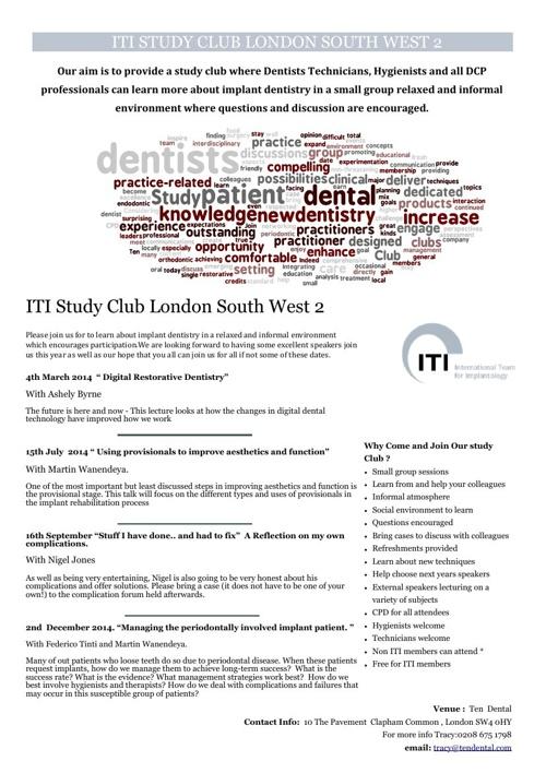 Study Club Programme 2014
