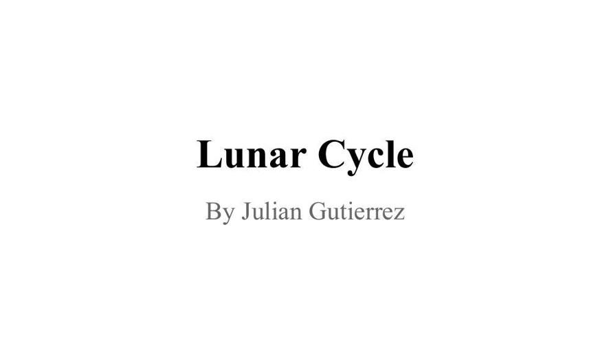 Julian's Lunar Cycle