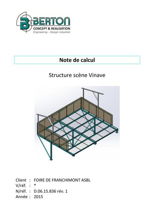 Note de calcul Berton Concept & Réalisation