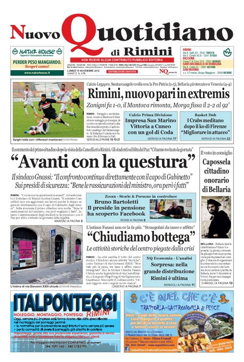Nuovo Quotidiano di Rimini del 19 novembre 2012