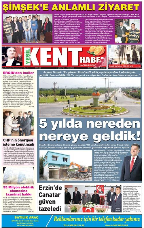 Yeşilkent Haber Gazetesi - Sayı 85
