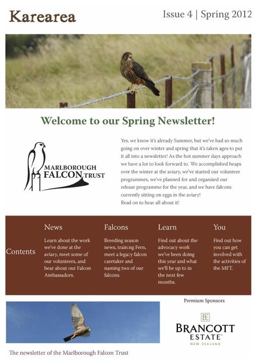 MFCT Newsletter Spring 2012