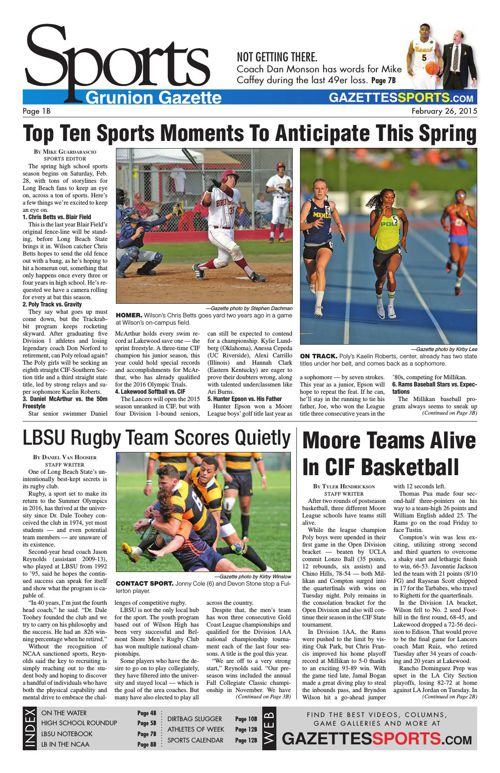 Gazette Sports | February 26, 2015