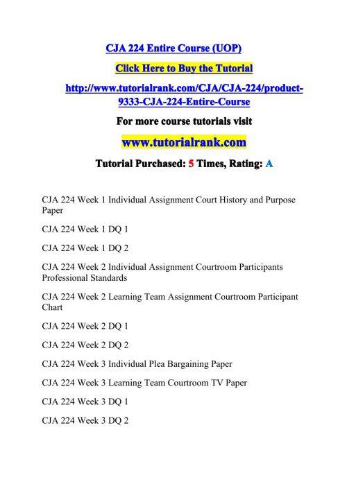 CJA 224 Potential Instructors / tutorialrank.com