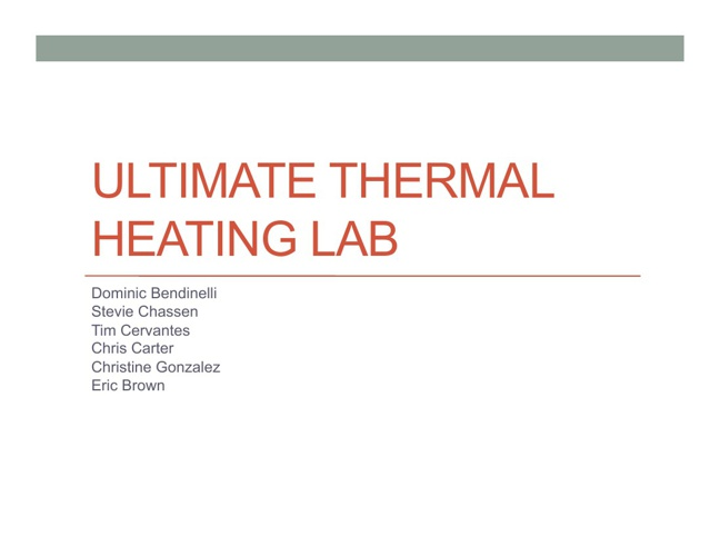 Ultimate Thermal Heating Lab P.6
