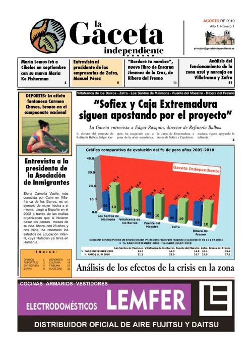La Gaceta Independiente Nº 01