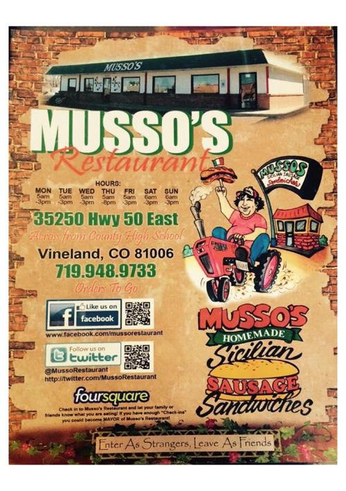 Musso's Restaurant Menu