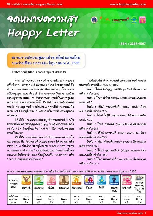 จดหมายความสุขปีที่ 1 ฉบับที่ 2