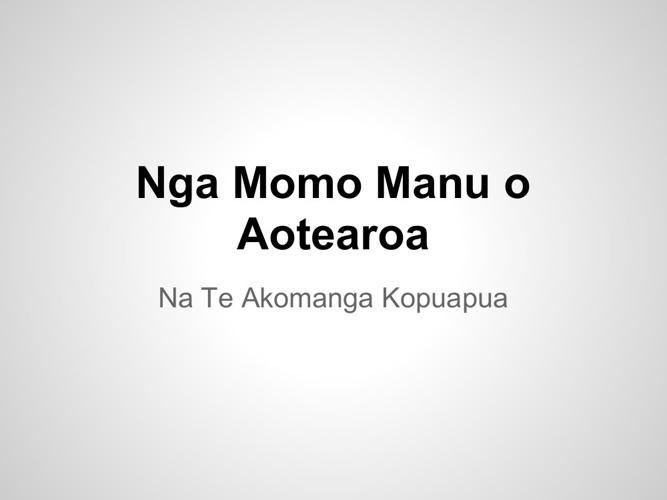 Nga Momo Manu o Aotearoa