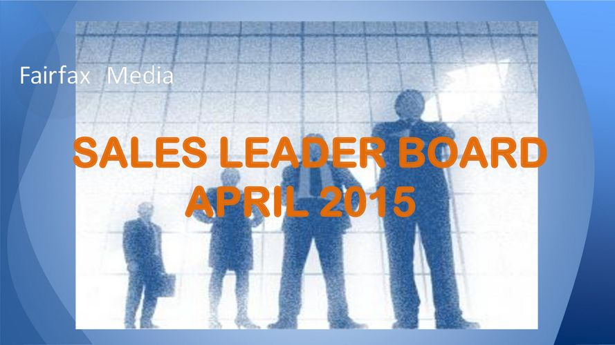 SALES LEADER BOARD APR 2015