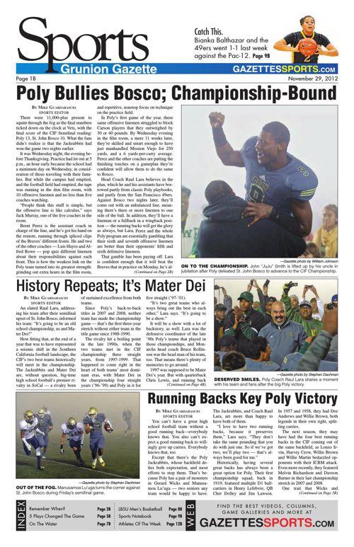 Gazette Sports   November 29, 2012