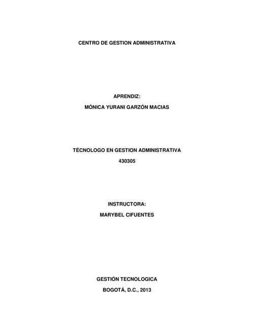 Gestión Técnologica