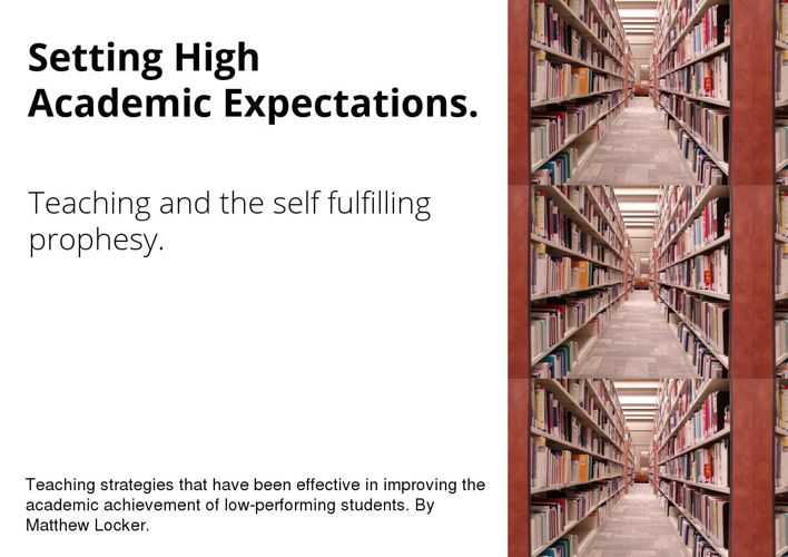 Setting High Academic Expectations.