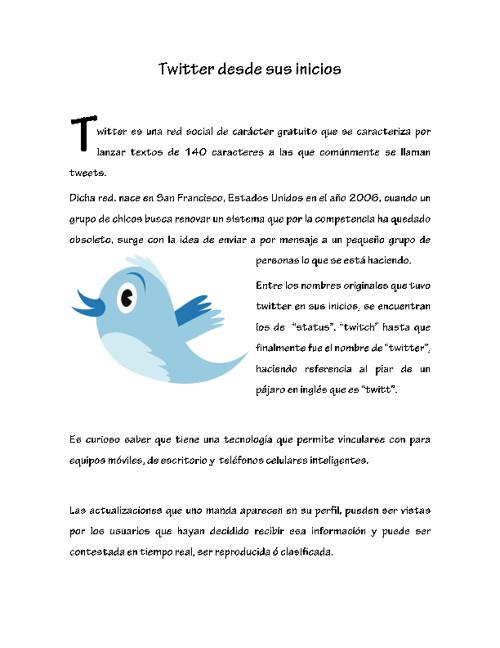 Historia del Twitter