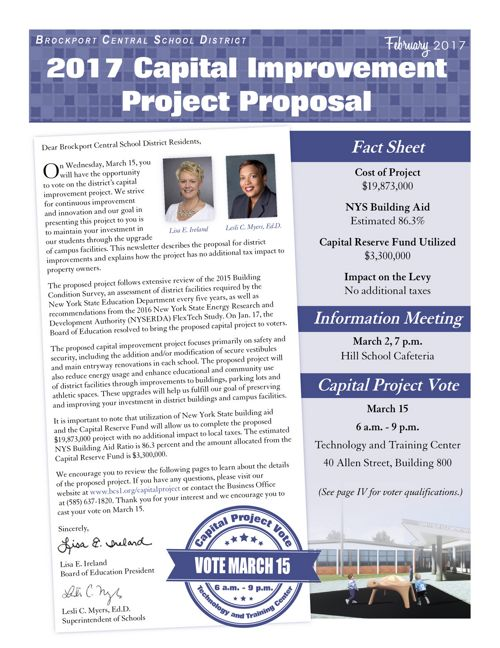 2017 Proposed Capital Project Newsletter